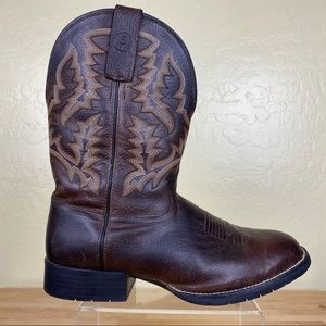 Tony Lama 3R PitStop Cowboy Western Boots Wide